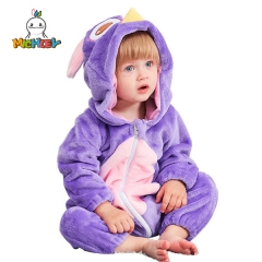 MICHLEY Owl Baby Hooded Romper Winter Autumn Flannel Style Cosplay Clothes
