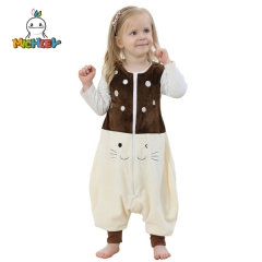 MICHLEY Baby Animal Pajamas for Kids Wearable Sleeping Bag