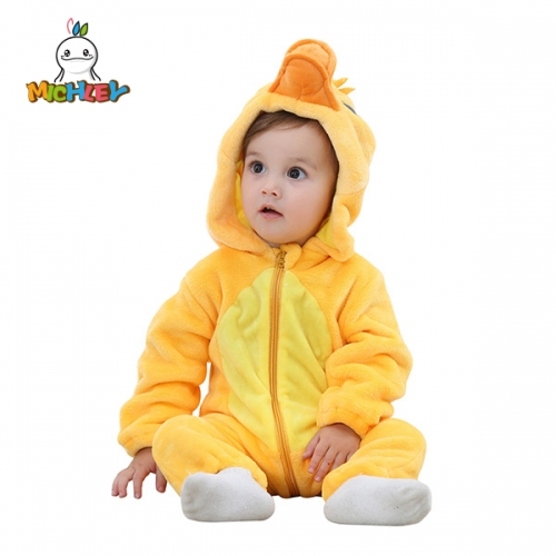 MICHLEY Unisex Baby Romper Winter and Autumn Flannel Jumpsuit Animal Cosplay Outfits