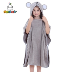 MICHLEY Baby Hooded Towel  Mouse Ear- Soft Thick 100% Cotton Bath Set Girls, Boys, Infant ad Toddler, Good Choice (Grey)