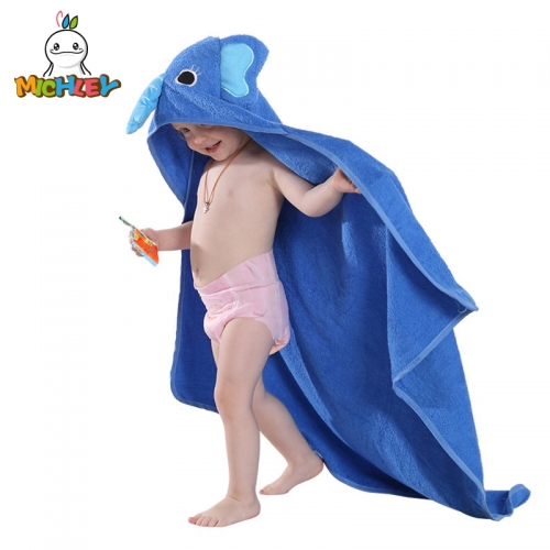 MICHLEY  Animal Face Hooded Baby Towel Cotton Bathrobe for Boys Girls 0-6 Year