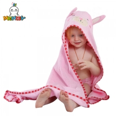 MICHLEY Premium Hooded Towel: Ultra Soft, 100% Cotton, Super Absorbent, Thick Animal Faced Baby Towel