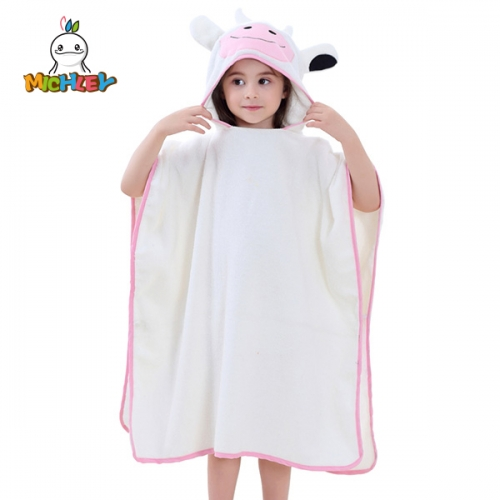 MICHLEY  Hooded Baby Bathrobe - Large, Soft cow Bath Robe for Boy or Girl - Perfect Shower Gift - Sized for Babies, Newborns, Infants, Toddlers