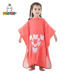 MICHLEY Children's Hooded Bath Towel, Super Soft Beach Towel Quality Children's Poncho,Cute Flamingo Cartoon Print, Suitable for Girls(1-6 Years)
