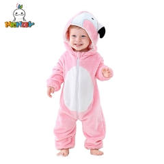 MICHLEY Nerborn Baby Jumpsuits  Girls Cartoon Hooded Homedress Kids Winther Costume Kids One Piece Clothes