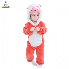 MICHLEY 0-24 Month Girl Red Unicorn Jumpsuits Cosplay romper