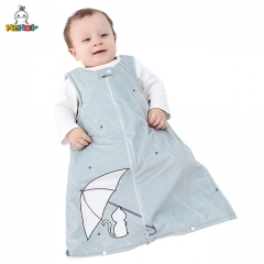 MICHLEY Cartoon Umbrella Sleeveless Round Collar Grey Pajamas for Boys and Girls