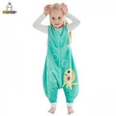 MICHLEY Green Jellyfish Sleeveless Sleeping Bag for Children, Spring and Autumn Special, Cool and Kick-Proof Sleeping Bag