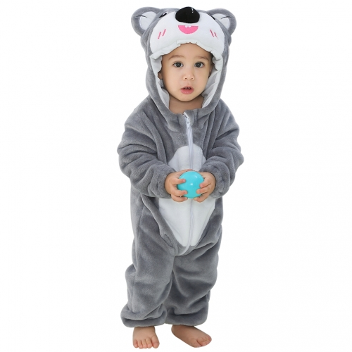 Michley Gray Koala One-Piece Newborn Unisex Baby Animal Costume