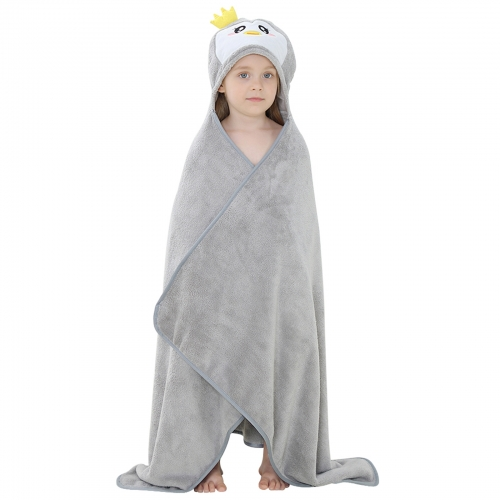 Michley Gray Animal Flannel High Quality Spring And Autumn Childen's Towel