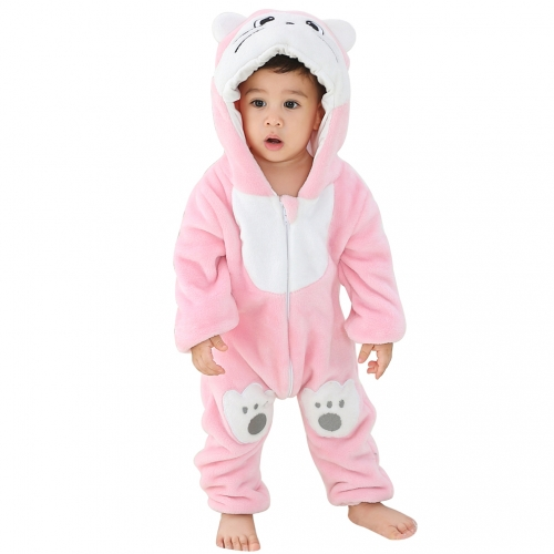 Michley Pink Cat 0-2 Years Hot Sale Christmas Baby Rompers