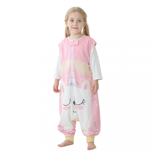 Michley Pink Unicorn Sleeveless 1-6 Years Cartoon Kids Pajamas